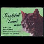 Grateful Dead 10/1/1994 Backstage Pass