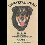 Grateful Dead 10/5/1994 Philadelphia Backstage Pass