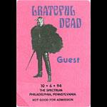 Grateful Dead 10/6/1994 Philadelphia Backstage Pass