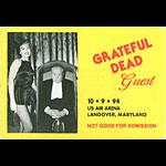 Grateful Dead 10/9/1994 Washington DC Backstage Pass