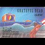 Grateful Dead 10/11/1994 Washington DC Backstage Pass