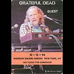 Grateful Dead 10/13/1994 New York City Backstage Pass