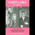 Grateful Dead 10/14/1994 New York City Backstage Pass