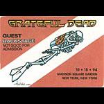 Grateful Dead 10/18/1994 New York City Backstage Pass