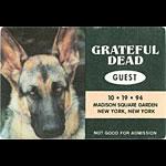 Grateful Dead 10/19/1994 New York City Backstage Pass