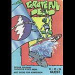 Grateful Dead 11/29/1994 Denver Backstage Pass