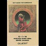 Grateful Dead 12/1/1994 Denver Backstage Pass