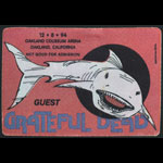 Reonegro Grateful Dead 12/8/1994 Oakland Backstage Pass