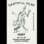 Grateful Dead 12/9/1994 Oakland Backstage Pass