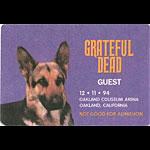 Grateful Dead 12/11/1994 Oakland Backstage Pass