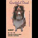 Grateful Dead 12/12/1994 Oakland Backstage Pass