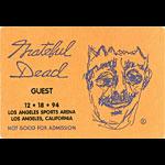 Grateful Dead 12/18/1994 Los Angeles Backstage Pass