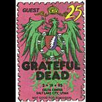 Grateful Dead 2/19/1995 Salt Lake City Backstage Pass