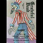 Grateful Dead 2/25/1995 Oakland Backstage Pass