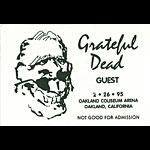 Grateful Dead 2/26/1995 Oakland Backstage Pass
