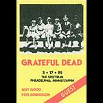 Grateful Dead 3/17/1995 Philadelphia Backstage Pass