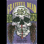 Grateful Dead 3/22/1995 Charlotte NC Backstage Pass