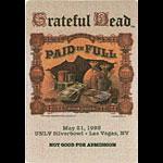 Grateful Dead 5/21/1995 Las Vegas Backstage Pass