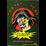 Grateful Dead 6/19/1995 Zombie Marvel Backstage Pass