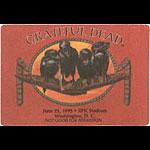 Grateful Dead 6/25/1995 Washington DC Backstage Pass