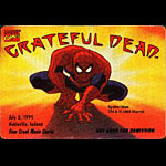 Grateful Dead 7/2/1995 Spider-Man Marvel Backstage Pass