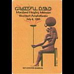 Grateful Dead 7/6/1995 St. Louis Backstage Pass