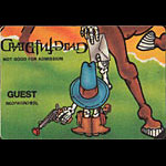 Reonegro Grateful Dead Cowboy Horse Guest Backstage Pass