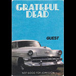 Grateful Dead Chevy Guest Backstage Pass