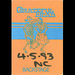 Grateful Dead 4/5/1993 Uniondale NY Backstage Pass