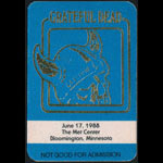 Grateful Dead 6/17/1988 Minneapolis Backstage Pass