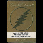 Grateful Dead 4/15/1989 Milwaukee Backstage Pass