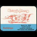 Rick Griffin Grateful Dead 3/16/1990 Washington DC Backstage Pass