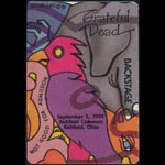 Grateful Dead 9/5/1991 Richfield OH Backstage Pass