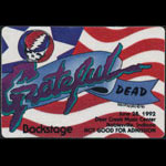 Grateful Dead 6/28/1992 Indianapolis Backstage Pass