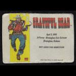 Grateful Dead 4/5/1995 Kid Colt Marvel Backstage Pass