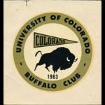 University of Colorado Buffalo Club 1963 Decal