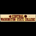 Central Washington State College Decal