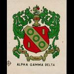 Alpha Gamma Delta Decal