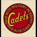 Palo Alto Military Academy Cadets Grade School Decal