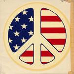 American Flag Peace Symbol Decal
