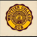 Whittier College Seal Decal