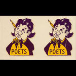 Whittier College Poets Decal