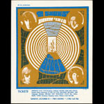 Rare October 1967 Doors Berkeley Handbill