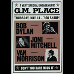 Bob Dylan Joni Mitchell Van Morrison Poster