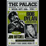 Bob Dylan Joni Mitchell Poster