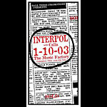 Mike Martin Interpol Poster