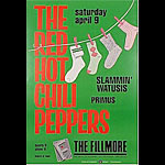 The Red Hot Chili Peppers New Fillmore Poster F5