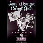 Jerry Harrison: Casual Gods New Fillmore F7 Poster