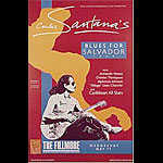 Carlos Santana's Blues for Salvador Tour New Fillmore F16 Poster