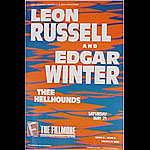 Leon Russel & Edgar Winter New Fillmore F20 Poster